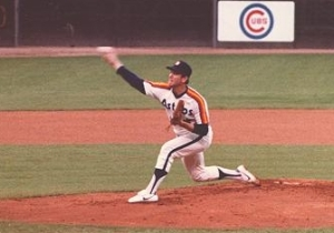 Nolan Ryan threw seven no-hitters and a dozen one-hitters in real life.