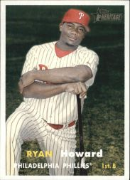 ryan howard 2006 topps heritage card