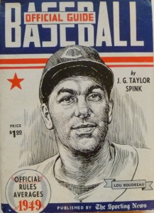 Lou Boudreau was featured on the cover of the 1949 Sporting News Baseball Guide.