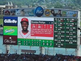 brandon phillips scoreboard