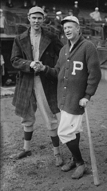 Pete Alexander and Boston's Ernie Shore prior to the start of the 1915 World Series.